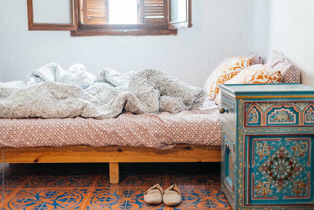 Moroccan Style Bedroom Interior by Alexander Grabchilev ...