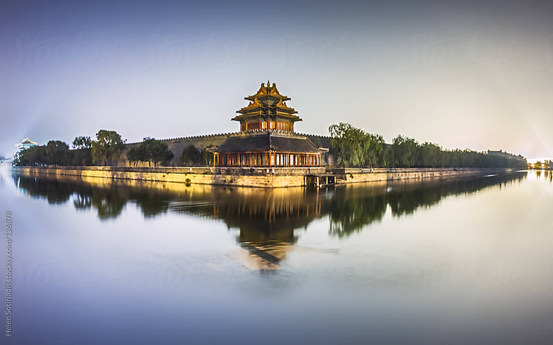 The Forbidden City at Night by Helen Sotiriadis for Stocksy United