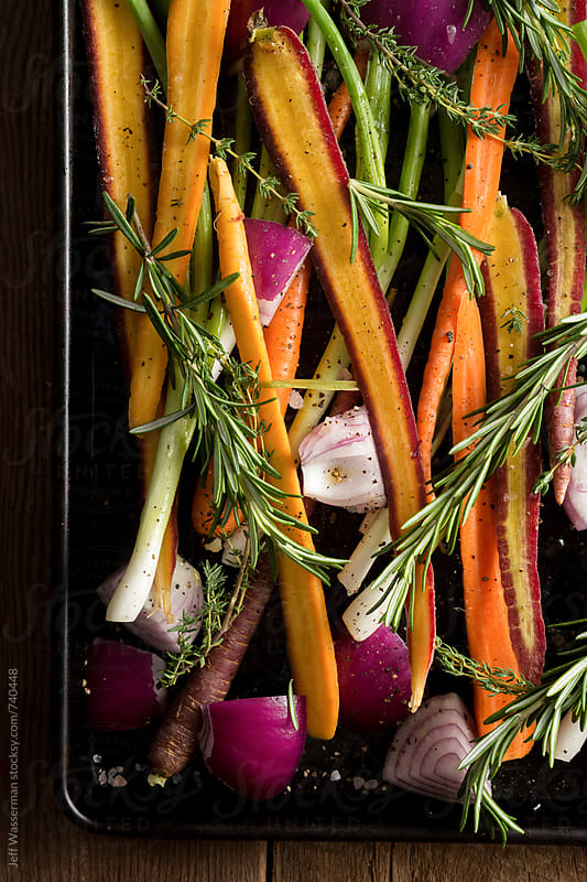 Raw Vegetables Ready to Roast by Studio Six for Stocksy United