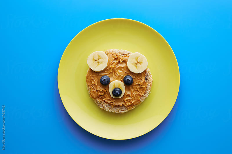 Food for kids - funny bear by Martí Sans for Stocksy United