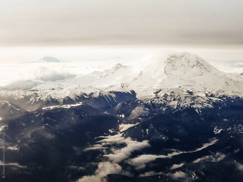 Mountains Viewed From the Sky by B. Harvey for Stocksy United