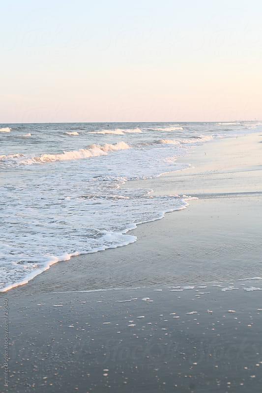 Soft waves at shoreline by Jennifer Brister for Stocksy United