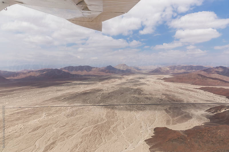 Panamericana in Nazca Peru seen from air plane by Ben Ryan for Stocksy United