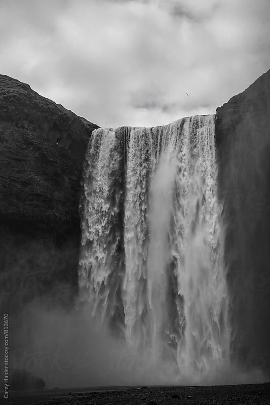 Iceland Waterfall by Carey Haider for Stocksy United