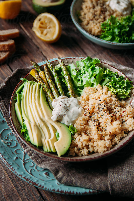 Vegan buddha bowl by Nataša Mandić for Stocksy United