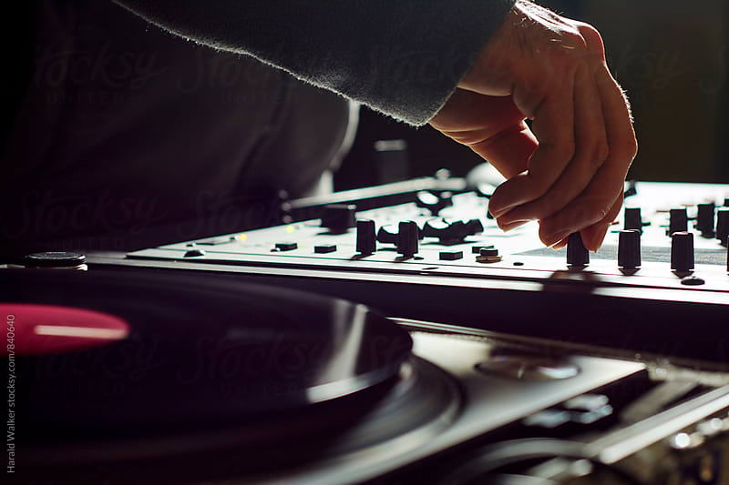DJ mixing by Harald Walker for Stocksy United