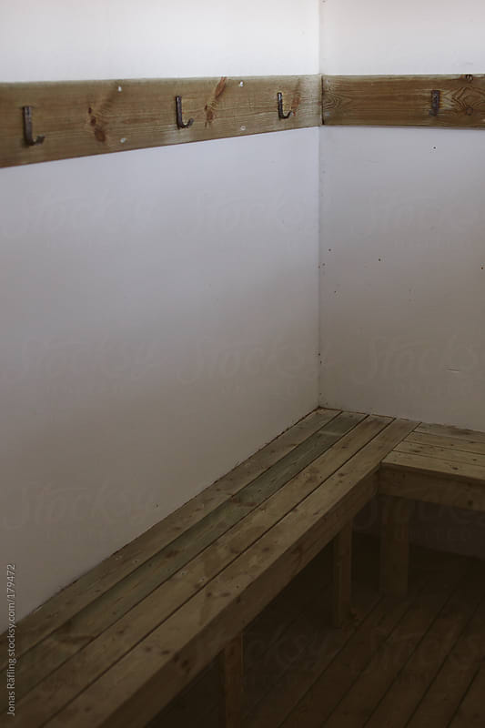 Empty changing room by Jonas Räfling for Stocksy United