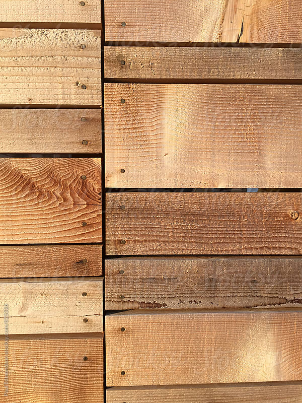 Detail of modern cedar fence by Paul Edmondson for Stocksy United
