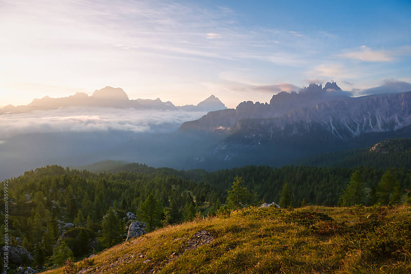 Beautiful sunrise scenery in Dolomites by RG&B Images for Stocksy United