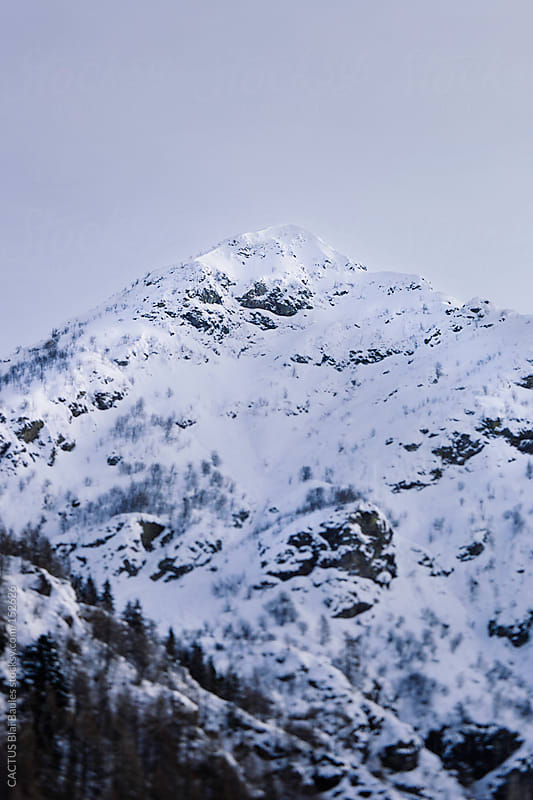 Snow covered Alps Landscape by CACTUS Blai Baules for Stocksy United