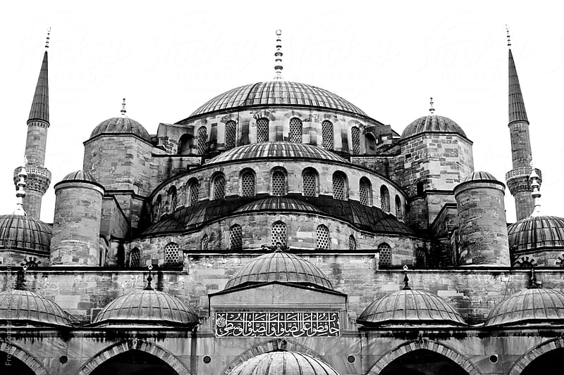 The front of the Blue Mosque in Istanbul - Turkey by Freek Zonderland for Stocksy United