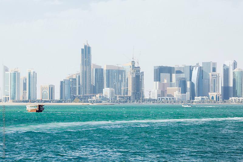 Doha seascape by Maja Topcagic for Stocksy United