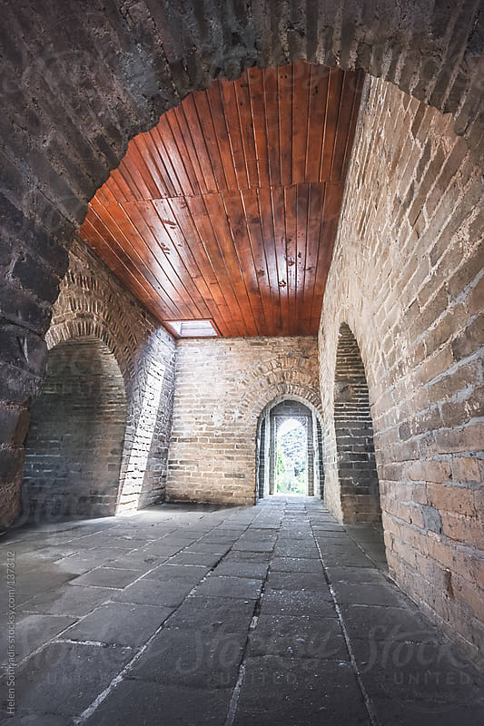 The Great Wall of China Fortress Interior by Helen Sotiriadis for Stocksy United