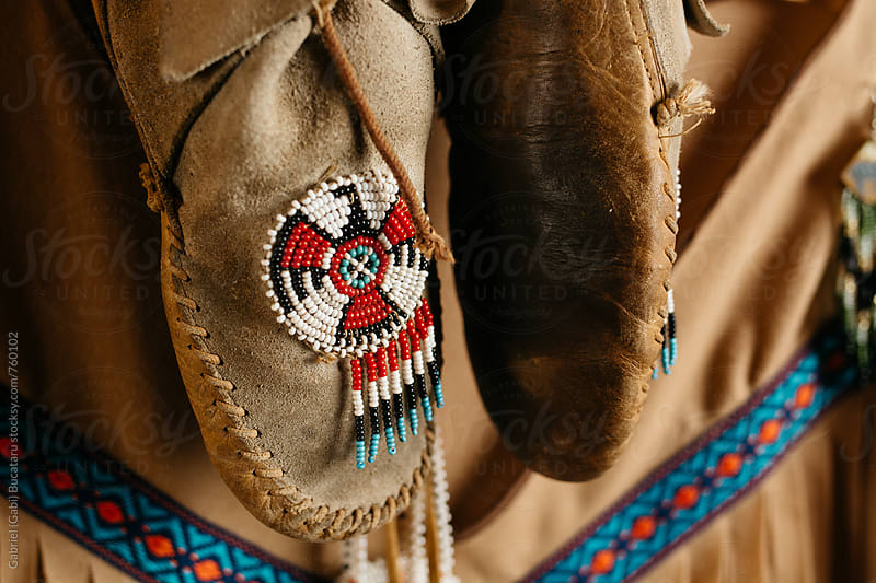 Native indian moccasins by Gabriel (Gabi) Bucataru for Stocksy United