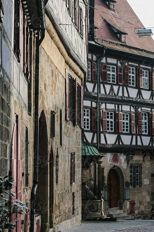 Old buildings in a medieval German city. by Holly Clark for Stocksy United