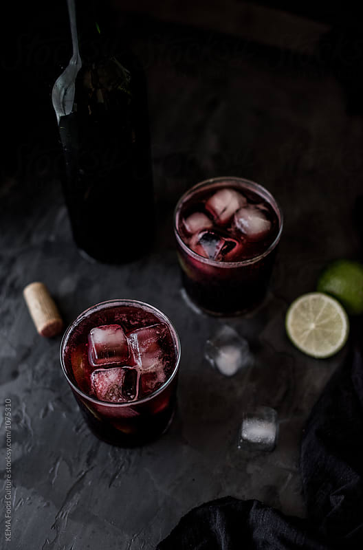 Tinto de verano - Wine and soda  by KEMA Food Culture for Stocksy United
