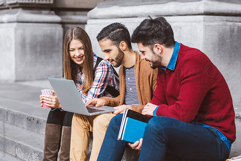 College Students With a Laptop by Lumina for Stocksy United