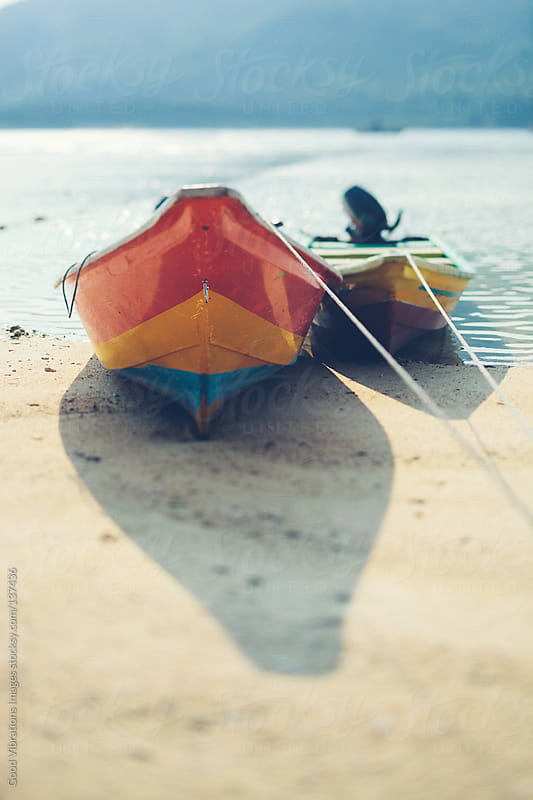 Boats on the Beach by Good Vibrations Images for Stocksy United