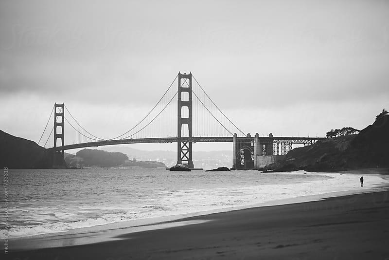 Golden Gate Bridge seen from the beach, San Francisco by michela ravasio for Stocksy United