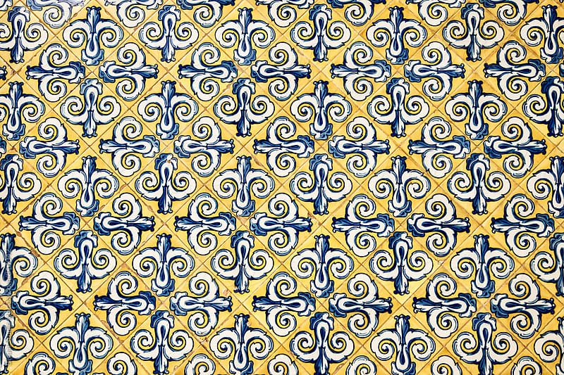 Detail of some tiles from a market in Valencia by Bisual Studio for Stocksy United