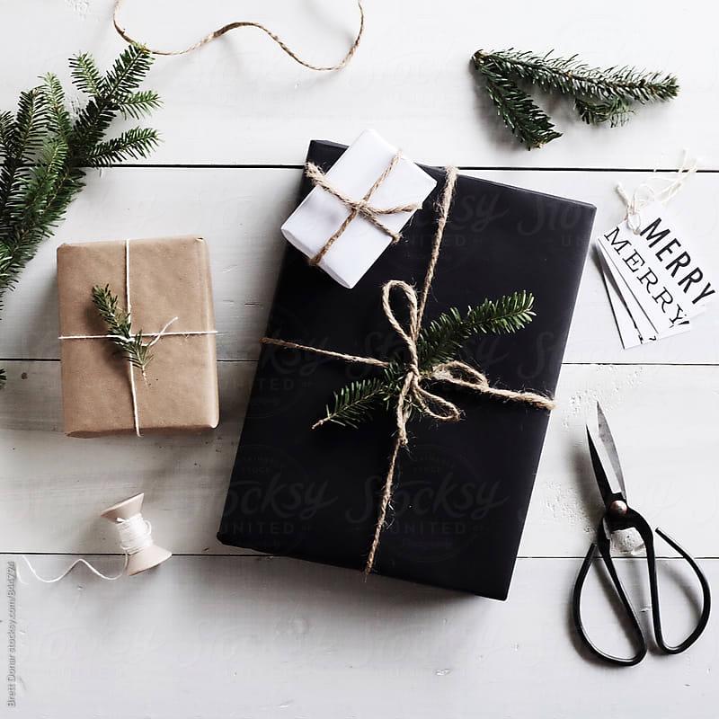 Christmas gift packaging by Brett Donar for Stocksy United