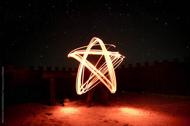Light Painting of a Star  by MEGHAN PINSONNEAULT for Stocksy United