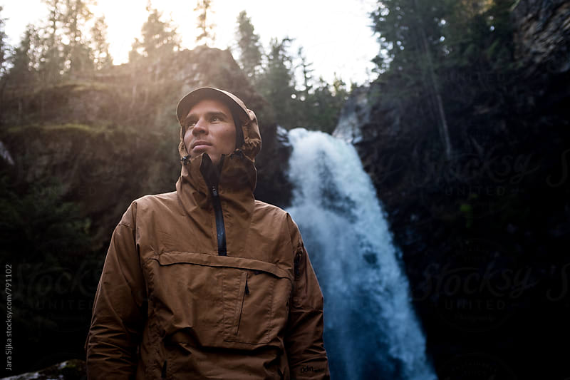 waterfall hike by Jara Sijka for Stocksy United