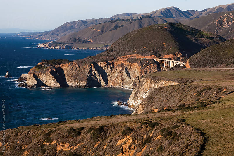 Landscape of Big Sur, California with View of Bixby Bridge by Sara Remington for Stocksy United