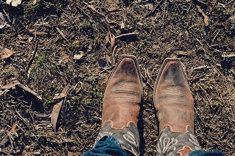 my cowgirl boots by Gillian Vann for Stocksy United