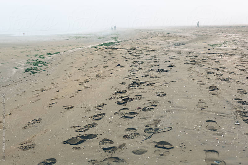 Beach in the Fog by Good Vibrations Images for Stocksy United