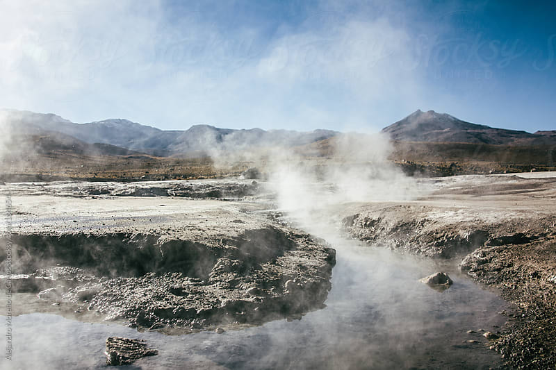 Geysers and thermal waters in Tatio, Chile by Alejandro Moreno de Carlos for Stocksy United