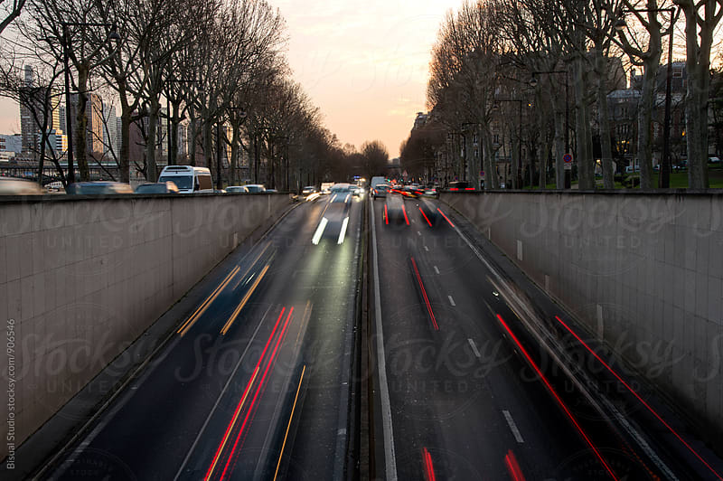 Traffic in Paris, France by Bisual Studio for Stocksy United