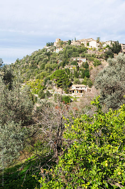 Mediterranean village on a Hill by Marilar Irastorza for Stocksy United