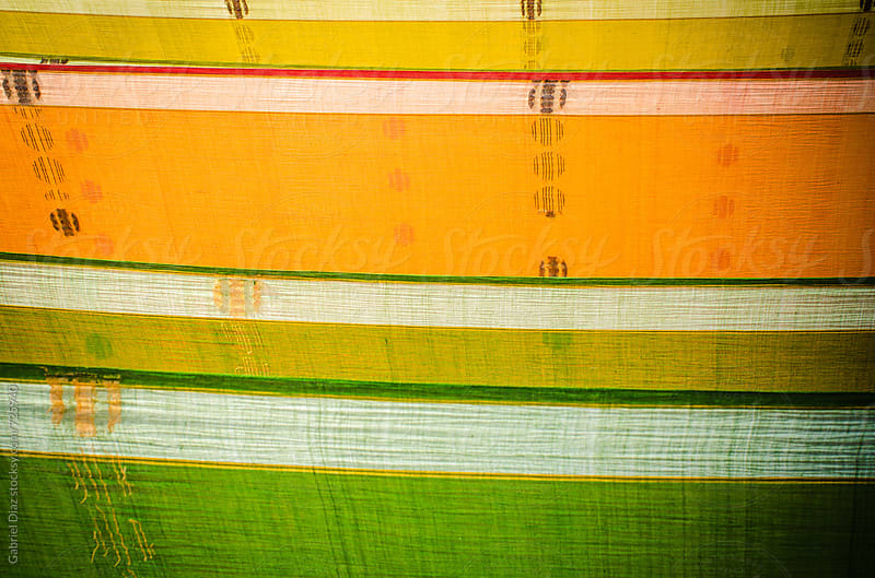 Colorful saris drying. India by Gabriel Diaz for Stocksy United