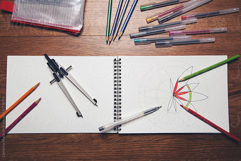 Creating your own colouring book... by Catherine MacBride for Stocksy United