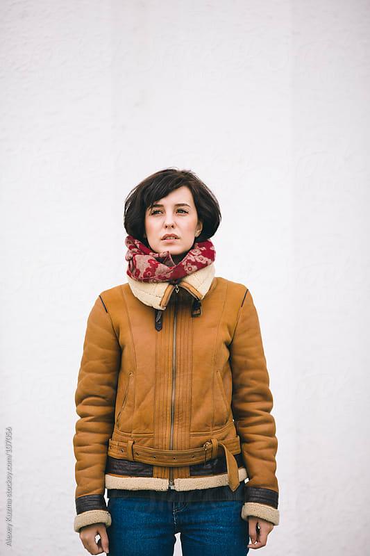 casual winter portrait by Alexey Kuzma for Stocksy United