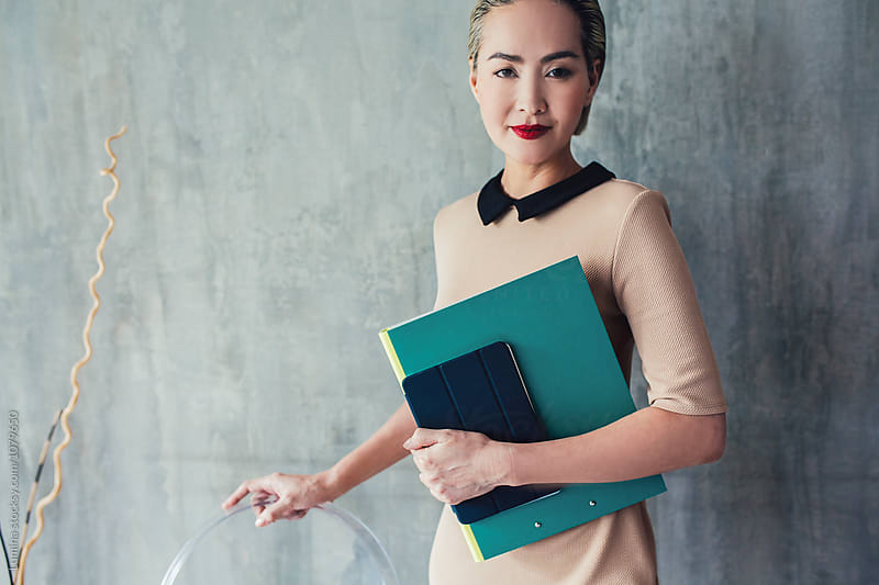 Portrait of Businesswoman  by Lumina for Stocksy United