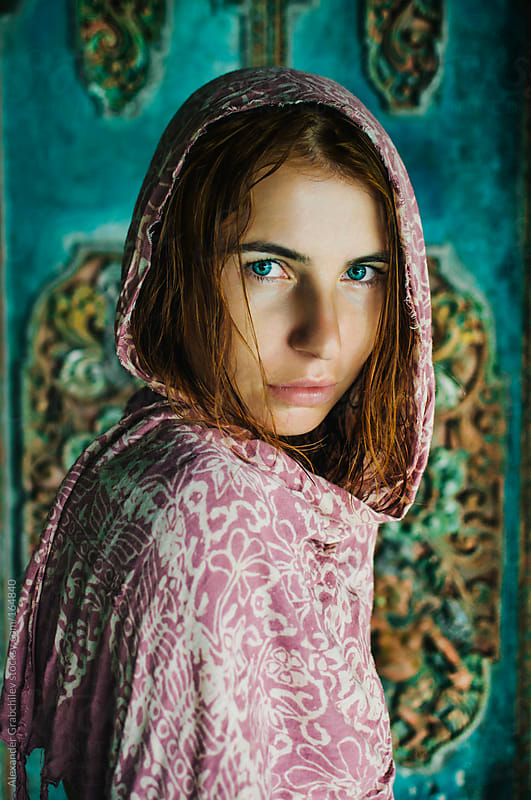 ethnic young woman with beauty  eyes by Alexander Grabchilev for Stocksy United