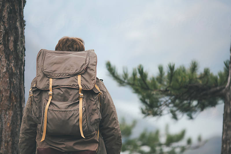 Hiker With a Backpack by Lumina for Stocksy United