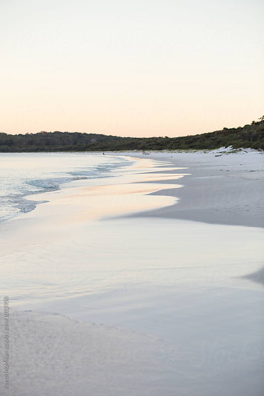 The pristine white sand of Hyam's Beach, Jervis Bay by Reece McMillan for Stocksy United