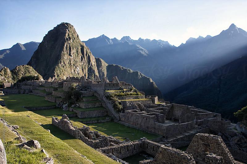 Macchu Picchu at sunrise by Jon Attaway for Stocksy United