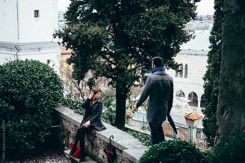 Young Couple Visit Italian City by HEX. for Stocksy United