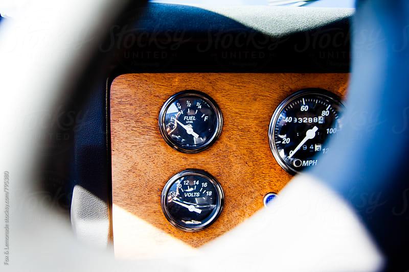old car dashboard by Fox & Lemonade for Stocksy United