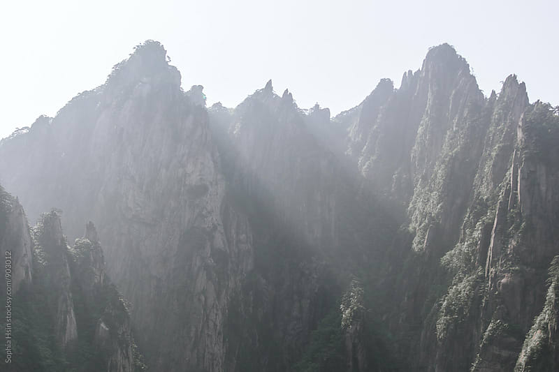 Yellow Mountain, Mt. Huangshan, Anhui China by Sophia Hsin for Stocksy United