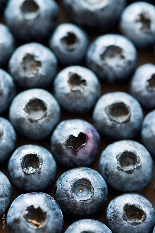 Blueberries in closeup by Vesna for Stocksy United