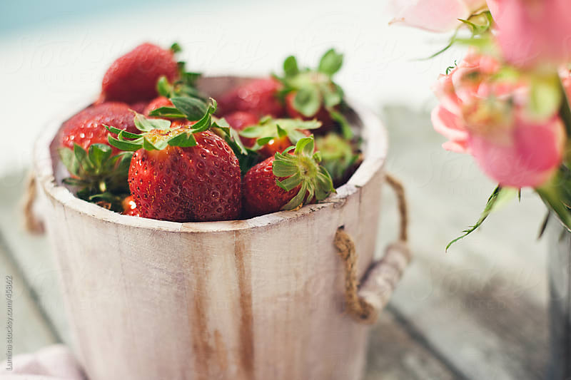 Fresh Strawberries by Lumina for Stocksy United