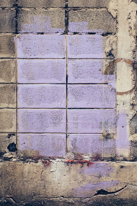 Purple Painted Concrete Wall by Nemanja Glumac for Stocksy United