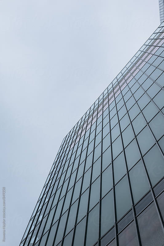Abstract office building in Tokyo CBD by Rowena Naylor for Stocksy United
