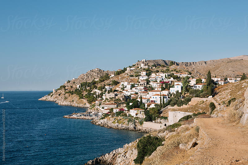 Town of Idra on the Island of Hydra, Greece. by Alberto Bogo for Stocksy United