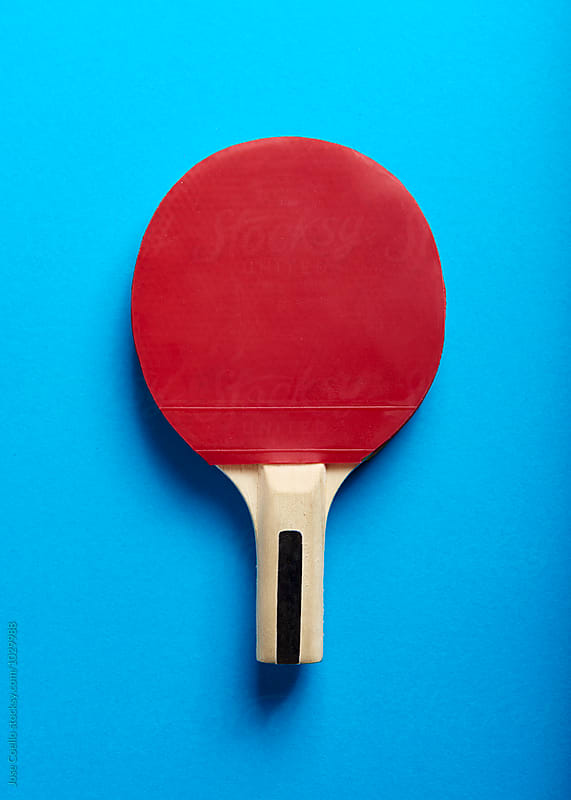Table tennis racket by Jose Coello for Stocksy United
